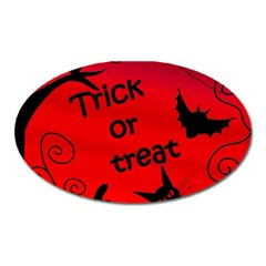 Trick Or Treat   Halloween Landscape Oval Magnet by Valentinaart