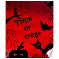 Trick Or Treat   Halloween Landscape Canvas 8  X 10  by Valentinaart
