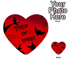 Trick Or Treat   Halloween Landscape Multi Purpose Cards (heart)  by Valentinaart