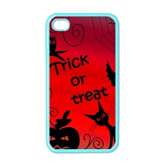 Trick Or Treat   Halloween Landscape Apple Iphone 4 Case (color) by Valentinaart