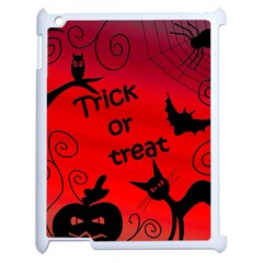 Trick Or Treat   Halloween Landscape Apple Ipad 2 Case (white) by Valentinaart