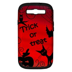Trick Or Treat   Halloween Landscape Samsung Galaxy S Iii Hardshell Case (pc+silicone) by Valentinaart