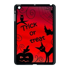 Trick Or Treat   Halloween Landscape Apple Ipad Mini Case (black) by Valentinaart