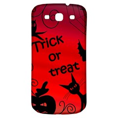 Trick Or Treat   Halloween Landscape Samsung Galaxy S3 S Iii Classic Hardshell Back Case by Valentinaart