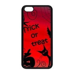 Trick Or Treat   Halloween Landscape Apple Iphone 5c Seamless Case (black) by Valentinaart