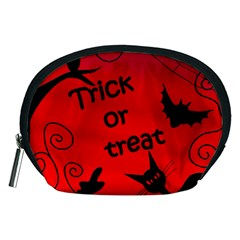 Trick Or Treat - Halloween Landscape Accessory Pouches (medium)  by Valentinaart