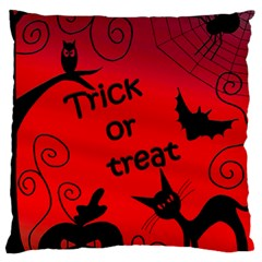 Trick Or Treat   Halloween Landscape Standard Flano Cushion Case (two Sides)