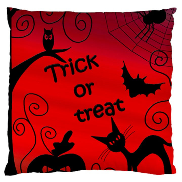 Trick or treat - Halloween landscape Standard Flano Cushion Case (Two Sides)