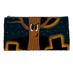 Halloween   Cemetery Evil Tree Pencil Cases by Valentinaart