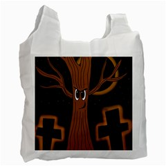 Halloween   Cemetery Evil Tree Recycle Bag (one Side)