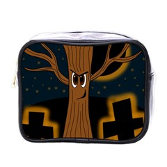 Halloween   Cemetery Evil Tree Mini Toiletries Bags by Valentinaart