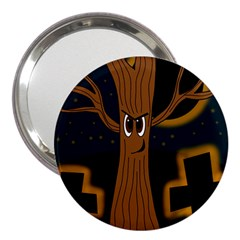 Halloween   Cemetery Evil Tree 3  Handbag Mirrors by Valentinaart