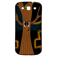 Halloween   Cemetery Evil Tree Samsung Galaxy S3 S Iii Classic Hardshell Back Case by Valentinaart