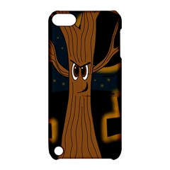Halloween   Cemetery Evil Tree Apple Ipod Touch 5 Hardshell Case With Stand by Valentinaart
