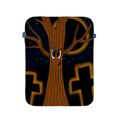 Halloween   Cemetery Evil Tree Apple Ipad 2/3/4 Protective Soft Cases by Valentinaart