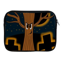 Halloween   Cemetery Evil Tree Apple Ipad 2/3/4 Zipper Cases by Valentinaart