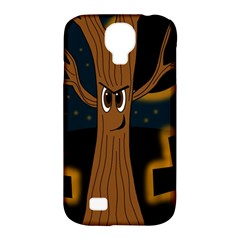 Halloween   Cemetery Evil Tree Samsung Galaxy S4 Classic Hardshell Case (pc+silicone) by Valentinaart