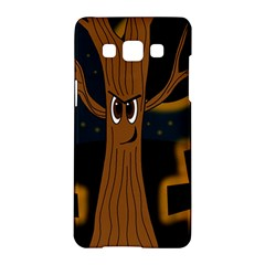 Halloween   Cemetery Evil Tree Samsung Galaxy A5 Hardshell Case  by Valentinaart