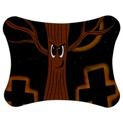 Halloween   Cemetery Evil Tree Jigsaw Puzzle Photo Stand (bow) by Valentinaart