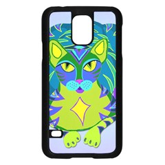 Peacock Tabby Samsung Galaxy S5 Case (black) by jbyrdyoga