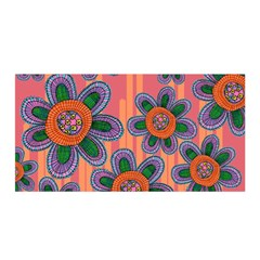 Colorful Floral Dream Satin Wrap by DanaeStudio