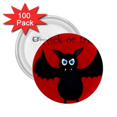Halloween Bat 2 25  Buttons (100 Pack)  by Valentinaart