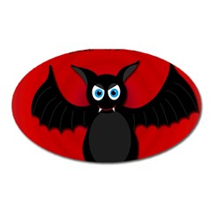 Halloween Bat Oval Magnet by Valentinaart