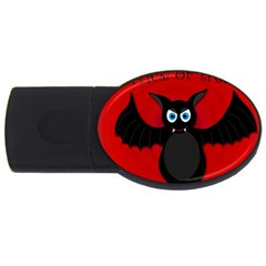 Halloween Bat Usb Flash Drive Oval (2 Gb)  by Valentinaart