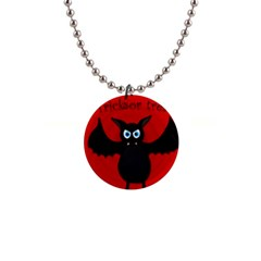 Halloween Bat Button Necklaces by Valentinaart
