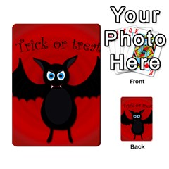Halloween Bat Multi Purpose Cards (rectangle)  by Valentinaart