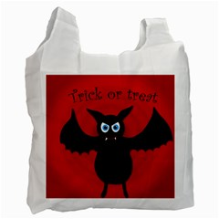 Halloween Bat Recycle Bag (one Side) by Valentinaart