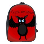 Halloween bat School Bags(Large)  Front