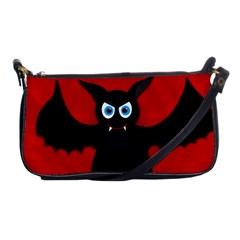 Halloween Bat Shoulder Clutch Bags by Valentinaart