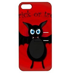 Halloween Bat Apple Iphone 5 Hardshell Case With Stand by Valentinaart