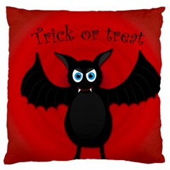 Halloween Bat Large Flano Cushion Case (one Side) by Valentinaart