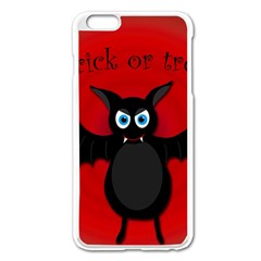 Halloween Bat Apple Iphone 6 Plus/6s Plus Enamel White Case by Valentinaart