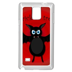 Halloween Bat Samsung Galaxy Note 4 Case (white) by Valentinaart
