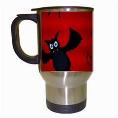 Halloween Bats  Travel Mugs (white) by Valentinaart