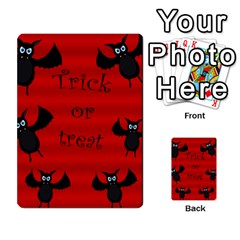 Halloween Bats  Multi Purpose Cards (rectangle)  by Valentinaart