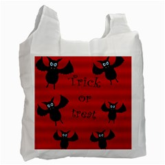 Halloween Bats  Recycle Bag (one Side) by Valentinaart