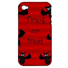Halloween Bats  Apple Iphone 4/4s Hardshell Case (pc+silicone) by Valentinaart