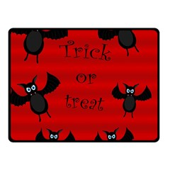 Halloween Bats  Double Sided Fleece Blanket (small)  by Valentinaart
