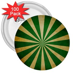 Colored Vintage 3  Buttons (100 Pack)