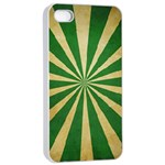 Colored Vintage Apple iPhone 4/4s Seamless Case (White) Front