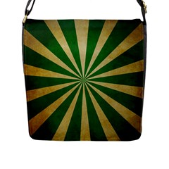 Colored Vintage Flap Messenger Bag (l)