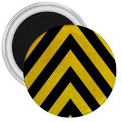 Construction Hazard Stripes 3  Magnets