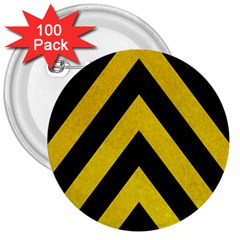 Construction Hazard Stripes 3  Buttons (100 Pack)