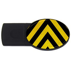 Construction Hazard Stripes Usb Flash Drive Oval (4 Gb)  by AnjaniArt