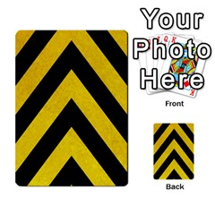 Construction Hazard Stripes Multi Purpose Cards (rectangle)  by AnjaniArt