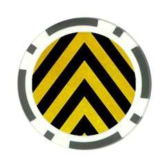 Construction Hazard Stripes Poker Chip Card Guards (10 Pack)